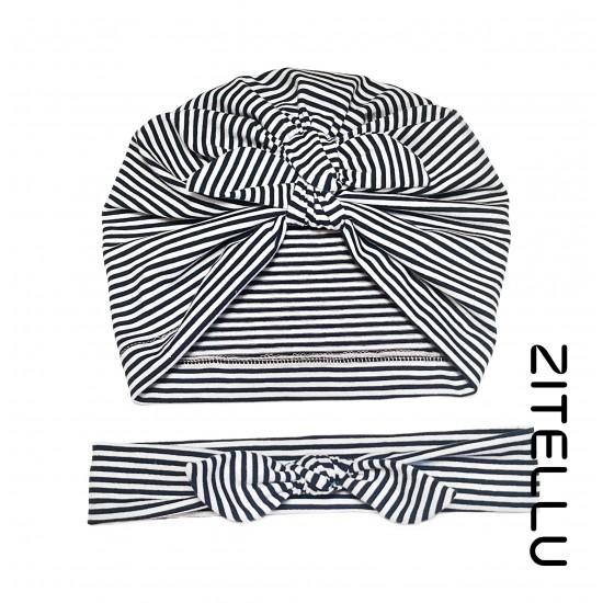 Set bentita si turban Zitellu - bumbac organic, 054
