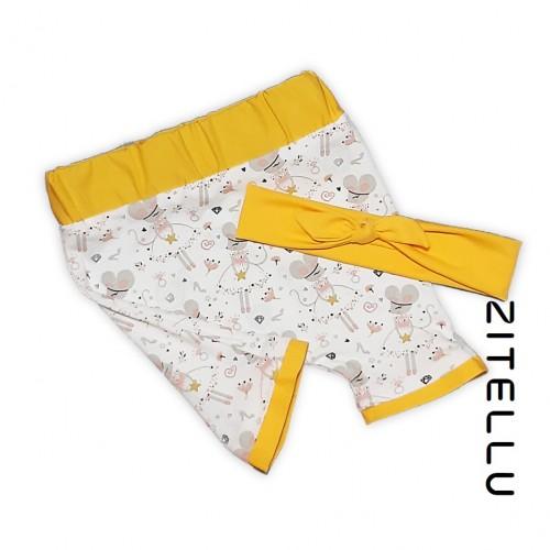 Pantalonas si bentita Zitellu, bumbac organic, 023