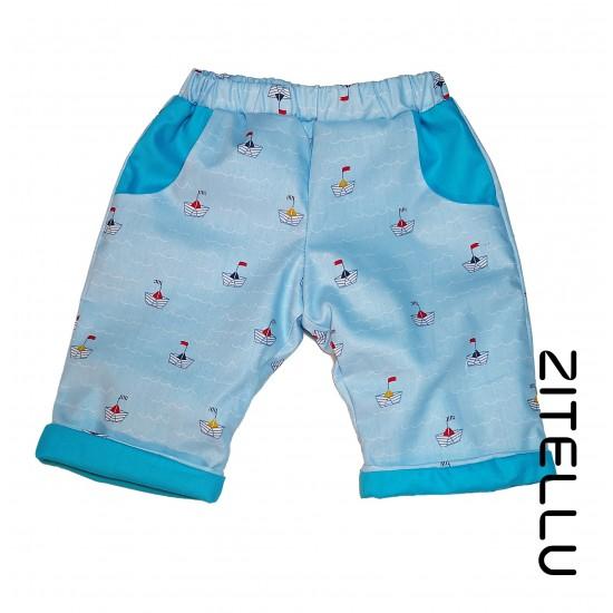 Pantalonas Zitellu dublat din bumbac organic, 039